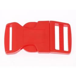 Side Release Buckle 25 mm, Contoured Red