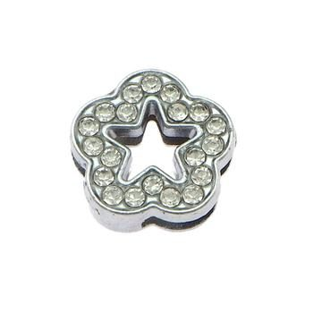 Slider charm - Flower 12mm