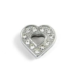 Slider charm - Heart 10mm
