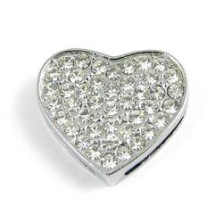 Slider charm - Heart 18mm