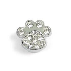 Slider charm - Paw 10mm