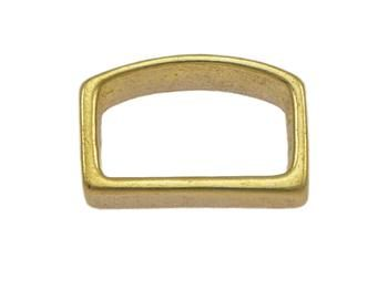 Solid Brass Saddlery Flat Loop