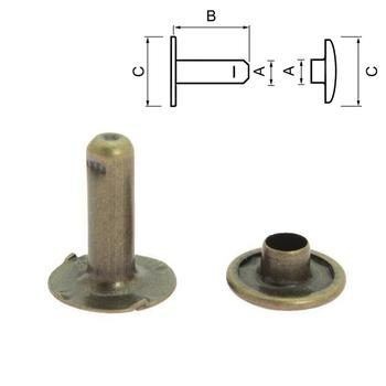 Standard rivet - Antique Brass.