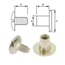 Steel screw post M4x5 (100 pcs)