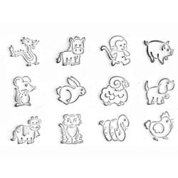 Craftool Cartoon-Tier 2-D-Stempel-Set
