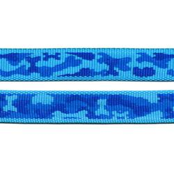 Weave Webbing - Blue, bone-shape camo