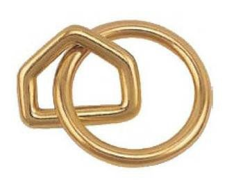 Solid Brass ring with triangel